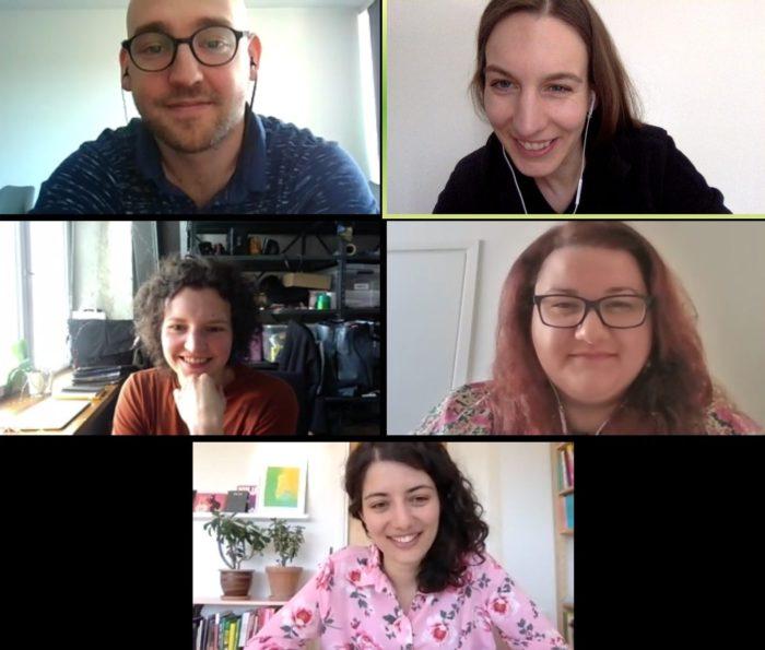 Ülevalt vasakult: Madis Luik, Sandra Nuut, Kulla Laas, Corina Apostol ja Maryam Fanni
