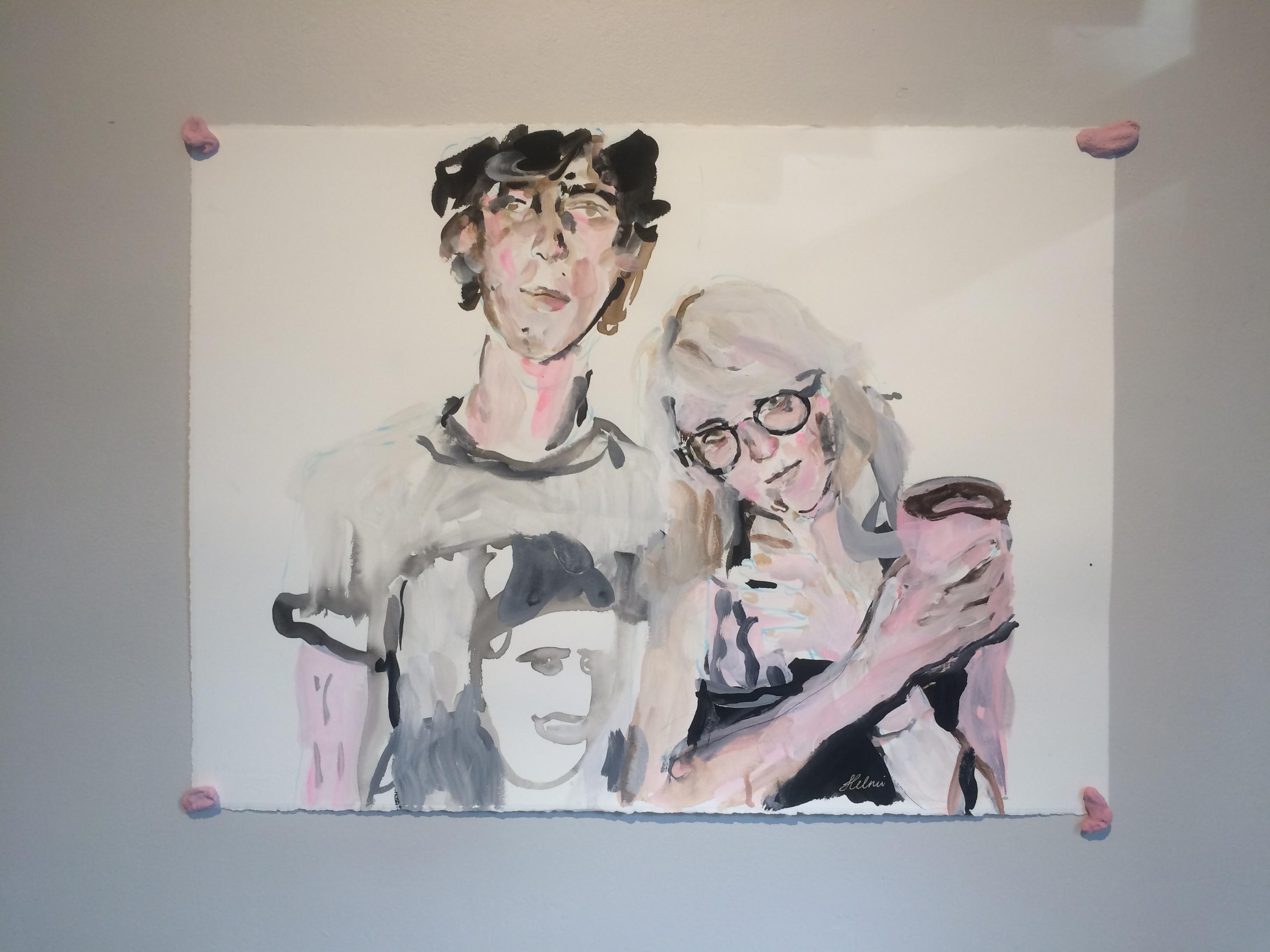 """Vaade Helmi Arraku näituselt """"Portraits From The Bedroom"""" / """"Portreed magamistoast"""""""