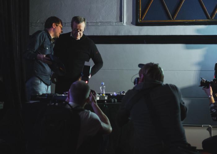 President Toomas Hendrik Ilves ja Drummie DJ-puldis. Foto: Janis Kokk