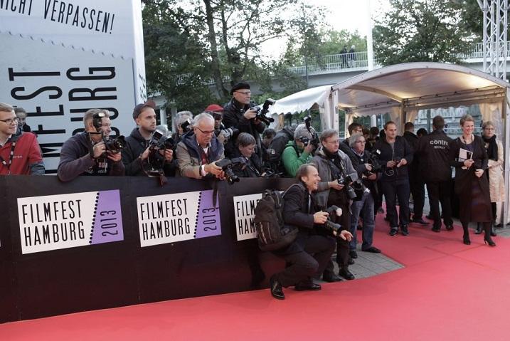 Punane vaip Hamburgi filmifestivalil. Foto: Cordula Kropke