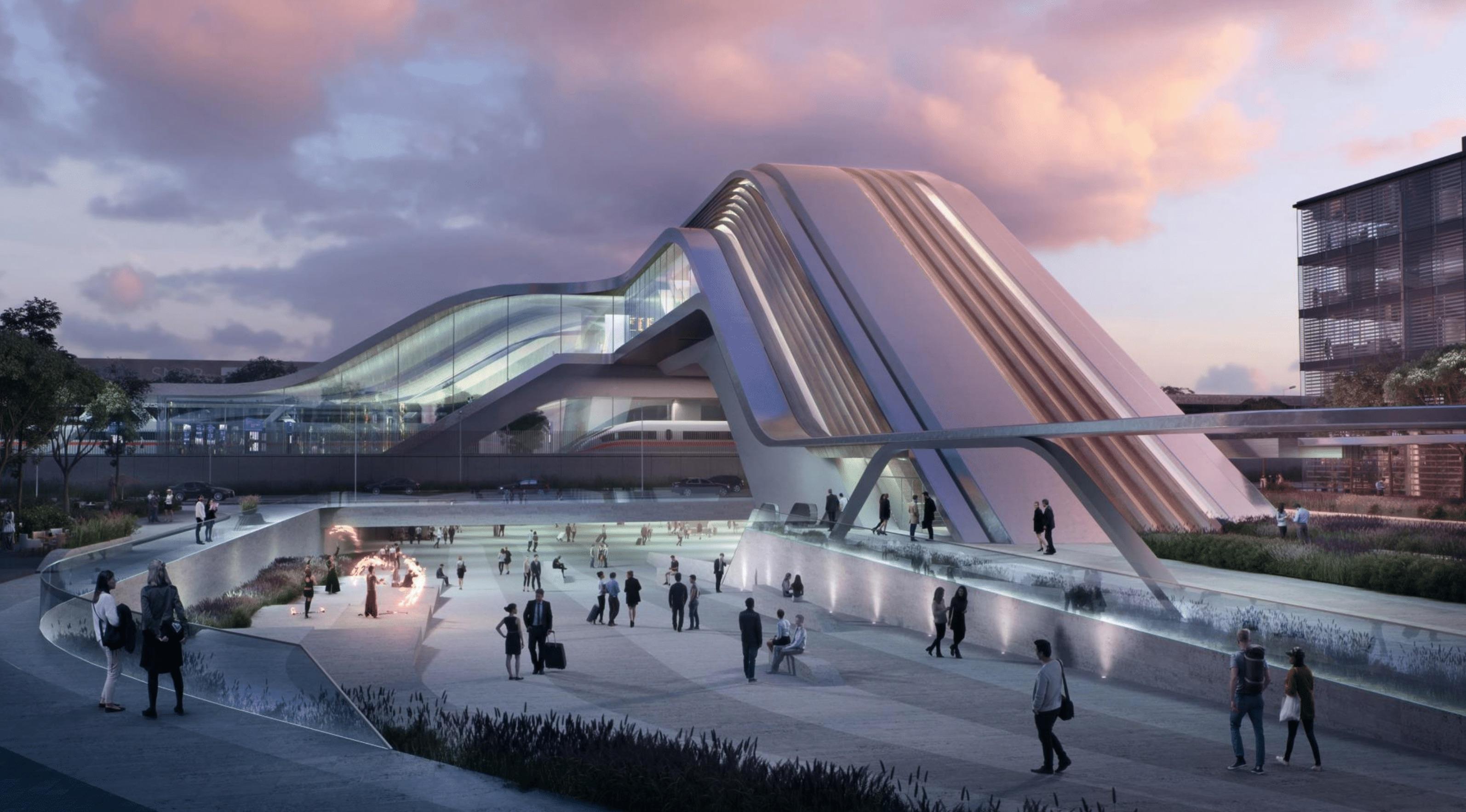 Ülemiste reisiterminal. Foto: Zaha Hadid Architects / OÜ Esplan