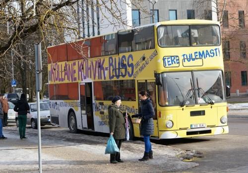 Ka Reformierakonna kohvikbussi võib käsitleda valimiste eel tuntavalt vohava populismi ilminguna. Foto: Reformierakond