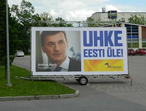 Reformierakonna valimisreklaam. Foto: kuma.fm