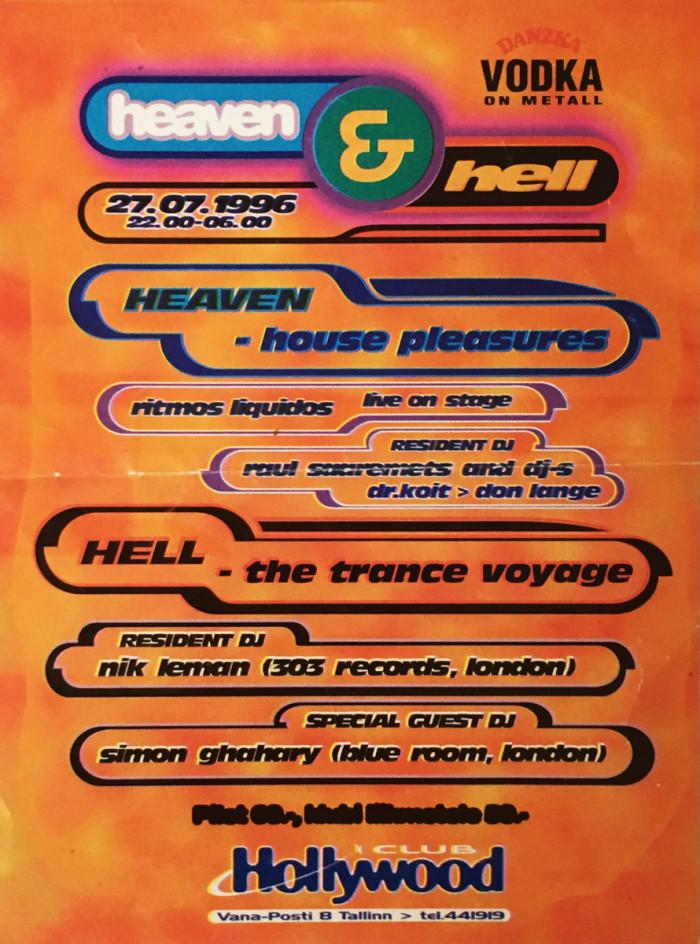 Hollywoodis toimunud peo Heaven & Hell flaier, kus Ritmos Liquidos esimest korda live'is üles astus.