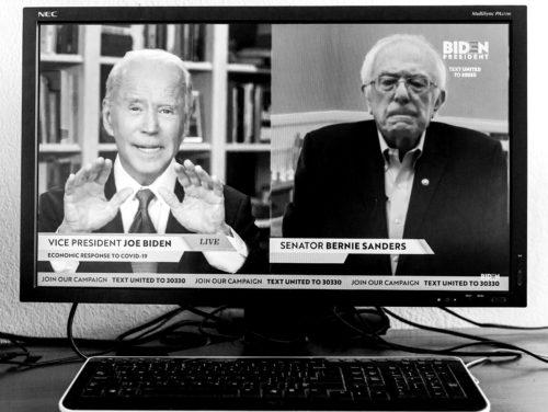 Sanders Bidenile toetust avaldamas. Foto: Brian Cahn / ZUMA Wire / Scanpix