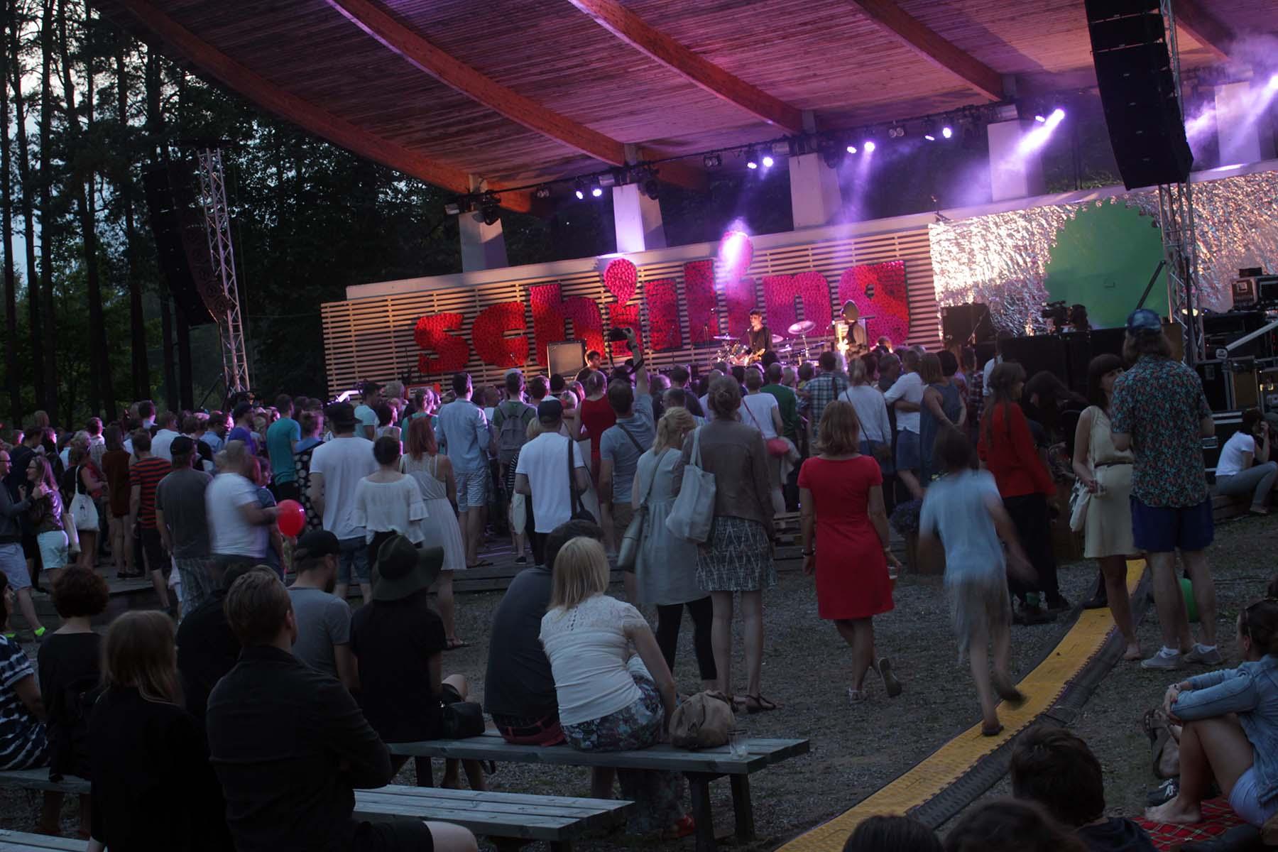 Vaade festivali pealavalt, Kilingi-Nõmme laululavalt.