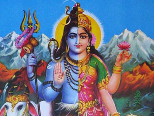 Askeetide ja joogide jumal Śiva ja tema abikaasa Śakti. Illustratsioon: maavaishnavi.com