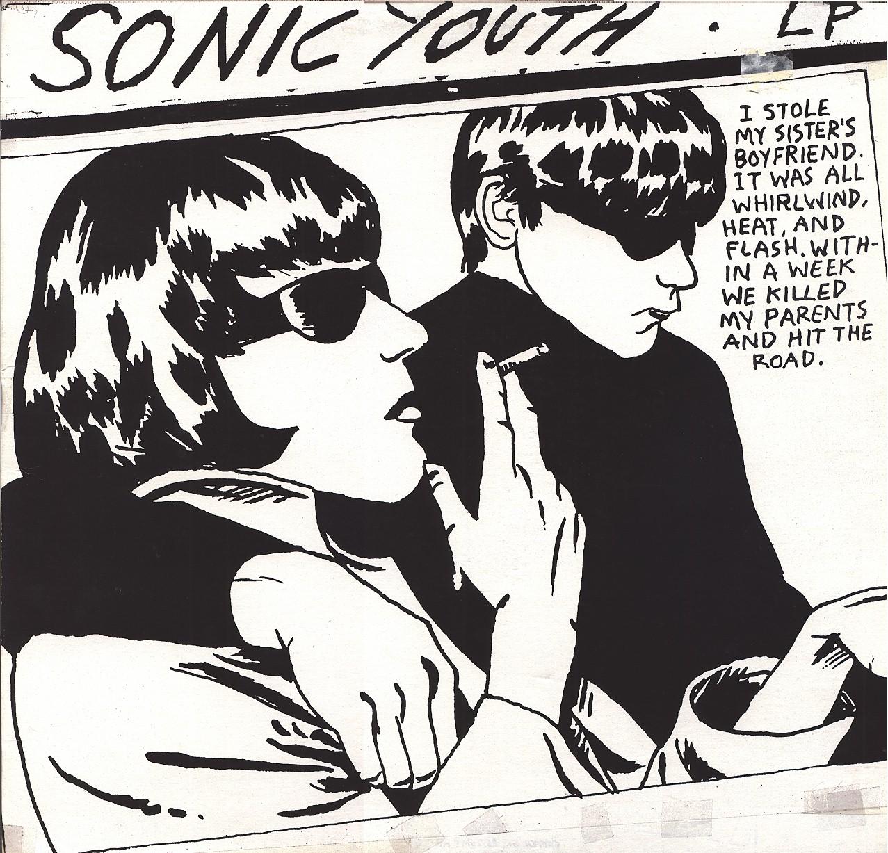 Raymond Pettiboni kujundatud plaadikaas Sonic Youthi albumile Goo.