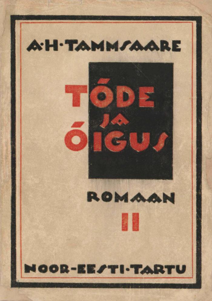 """A. H. Tammsaare romaani """"Tõde ja õigus"""" II osa kaas"""