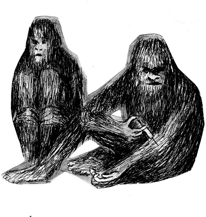 "Eesti müramuusika lipulaeva EDASI EP ""Prehistoric Relaxation"" kaanepilt. Joonistus: Mihkel Kleis"