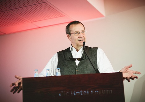 President Toomas-Hendrik Ilves opening the TMW conference 2013. Foto: Rasmus Jurkatam