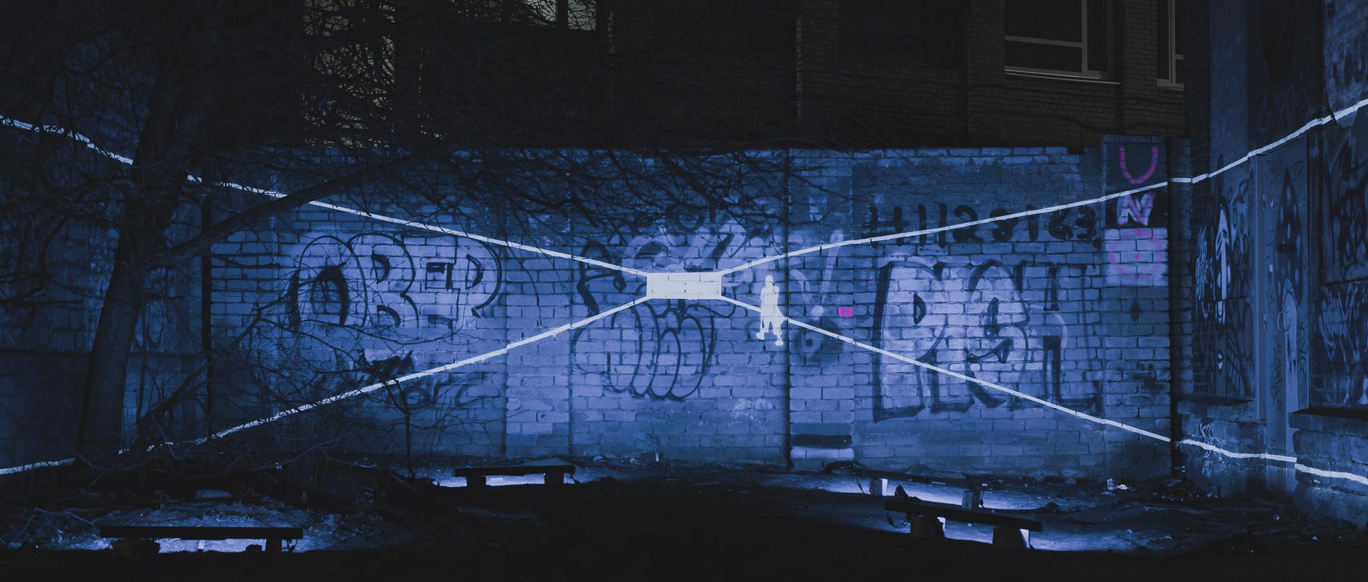 EKA valgusinstallatsioon Reisijate tänaval. Foto: Janis Kokk