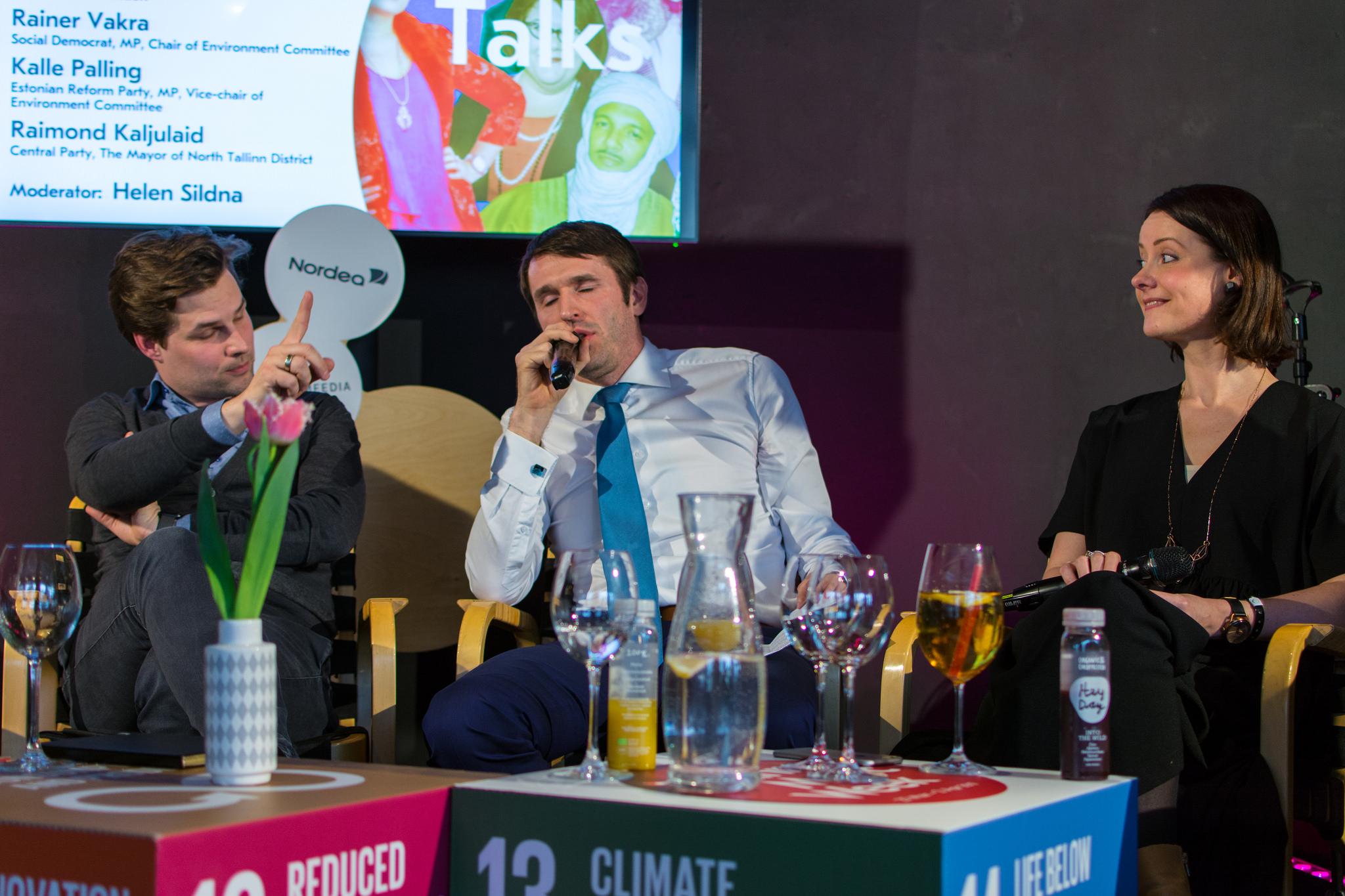Kalle Palling, Rainer Vakra ja Helen Sildna. Foto: Kristjan Indus