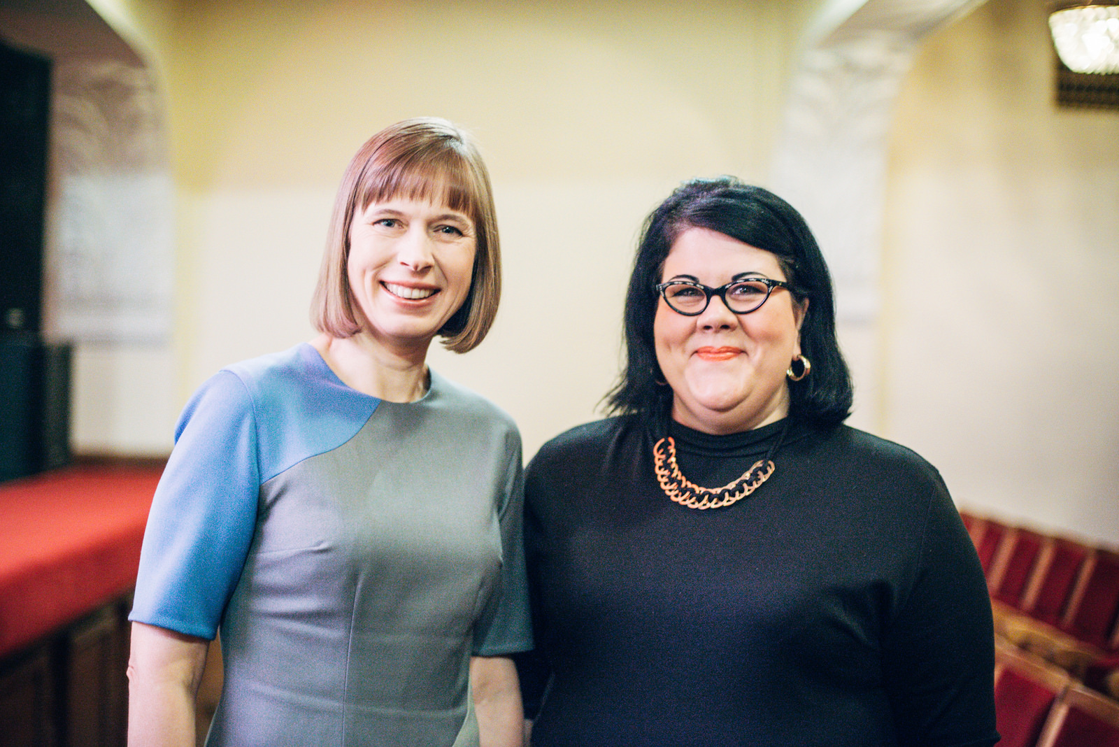 Kersti Kaljulaid ja Amy Lamé. Foto: Patrik Tamm