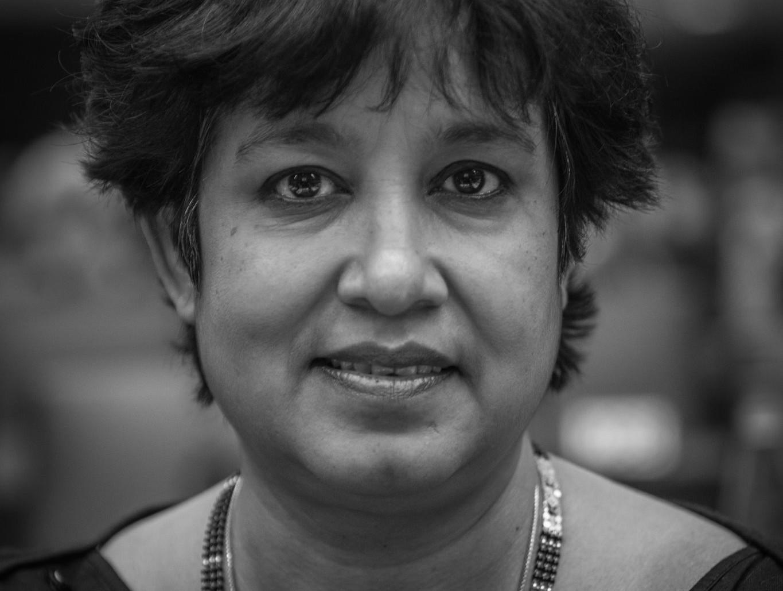 Konverentsil astub üles ka Bangladeshist pärit Taslima Nasrin, kes on elanud alates 1994. aastast eksiilis oma islamikriitiliste kirjutiste eest saadud surmaähvarduste tõttu. Foto: Claude Truong-Ngoc (CC by 3.0)