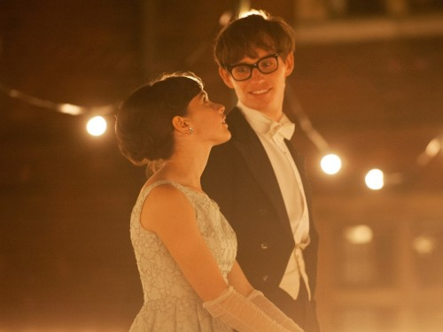 "Eddie Redmayne and Felicity Jones in ""The Theory of Everything""."