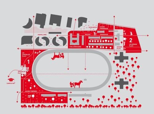 """""""Tribünen +2"""" planeering. Allikas: www.ideenwettbewerb-tribuenen.at"""