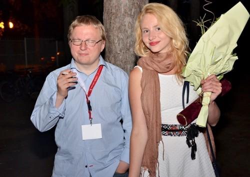 Tristan Priimägi ja Jaanika Arum Palici filmifestivalil