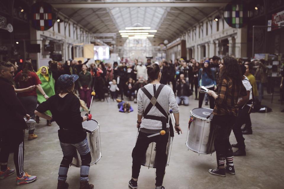 Trummibänd ZAC-is esinemas. Foto: Renee Altrov