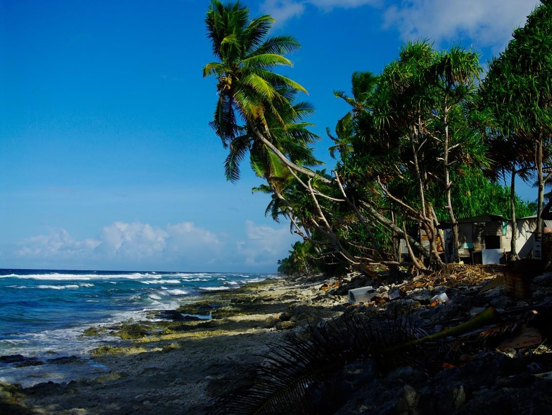 Merepinnast keskmiselt napilt kaks meetrit kõrgem Tuvalu saarestik Vaikses ookeanis on üks esimesi, mis kliima soojenedes osaliselt vee alla jääb. Foto: Tomoaki Inaba (CC by 2.0)