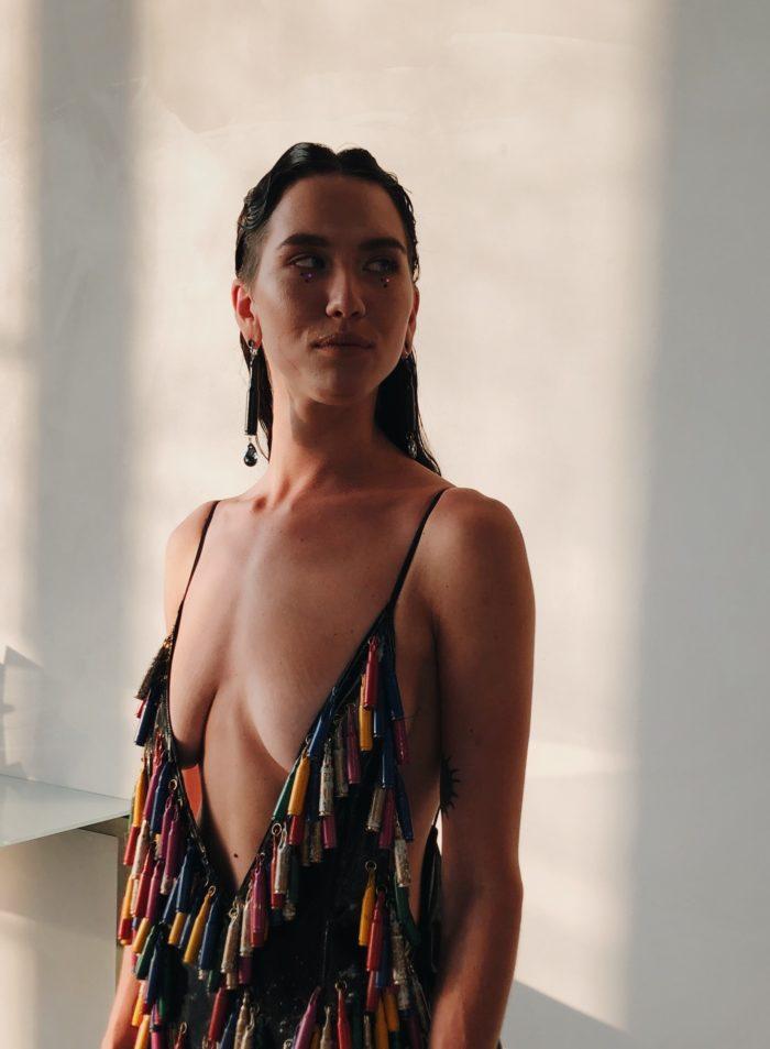 "Padrunitest kleit kollektsioonist ""Am I a Joke to You?"". Foto: Karl-Christoph Rebane"