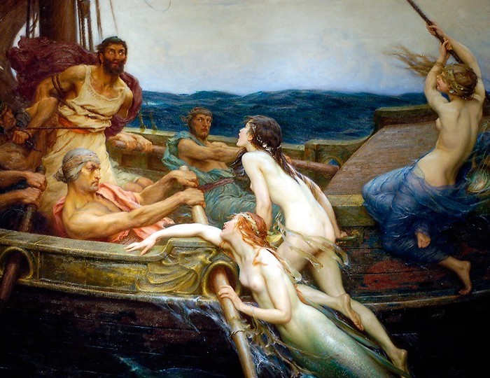 """Herbert James Draperi maal """"Ulysses ja sireenid"""" (1909). Foto: Wikipedia"""
