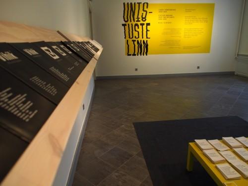 """""""Unistuste linn. Tartu tekstikunst 2002–2015"""" näitusevaade. Foto: Marika Agu"""