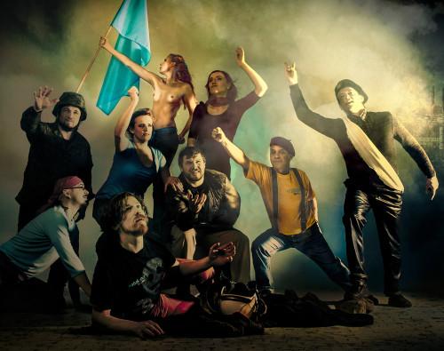 """Taiesest """"Vabadus ja Vabakund"""" õhkub Vabakunnale omast revolutsioonilisust. Foto: Maris Savik"""