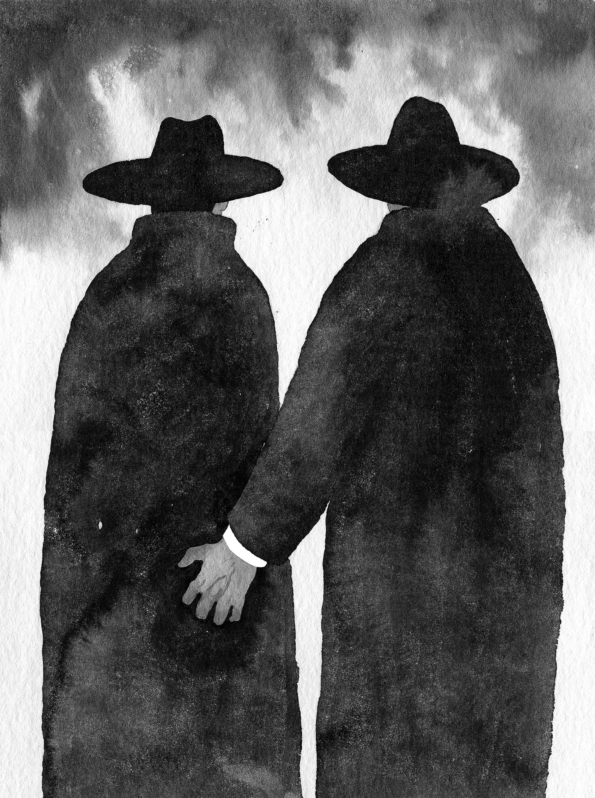 """Andres Maimiku essee """"Viha anatoomia"""" illustratsioon. Autor: Jaan Rõõmus"""