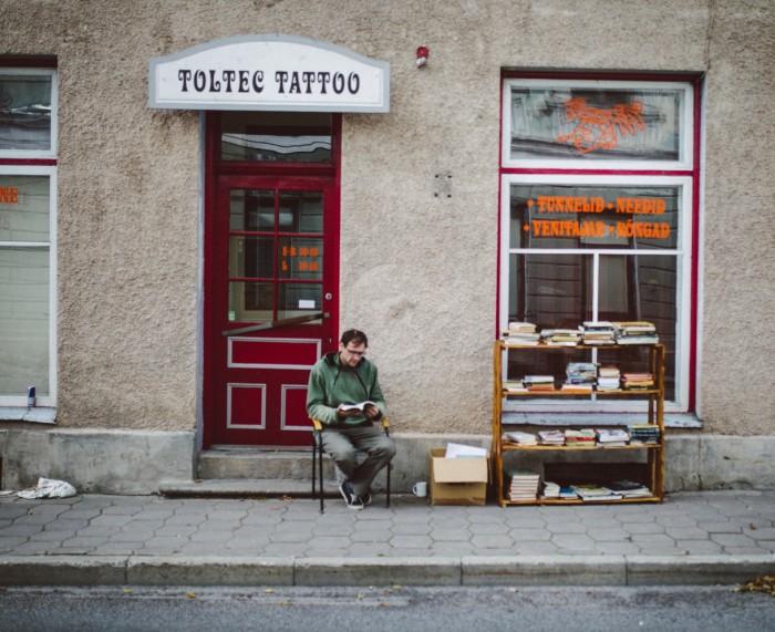 Väikelinna elu Viljandi Music Walki ajal. Foto: Siim Teder