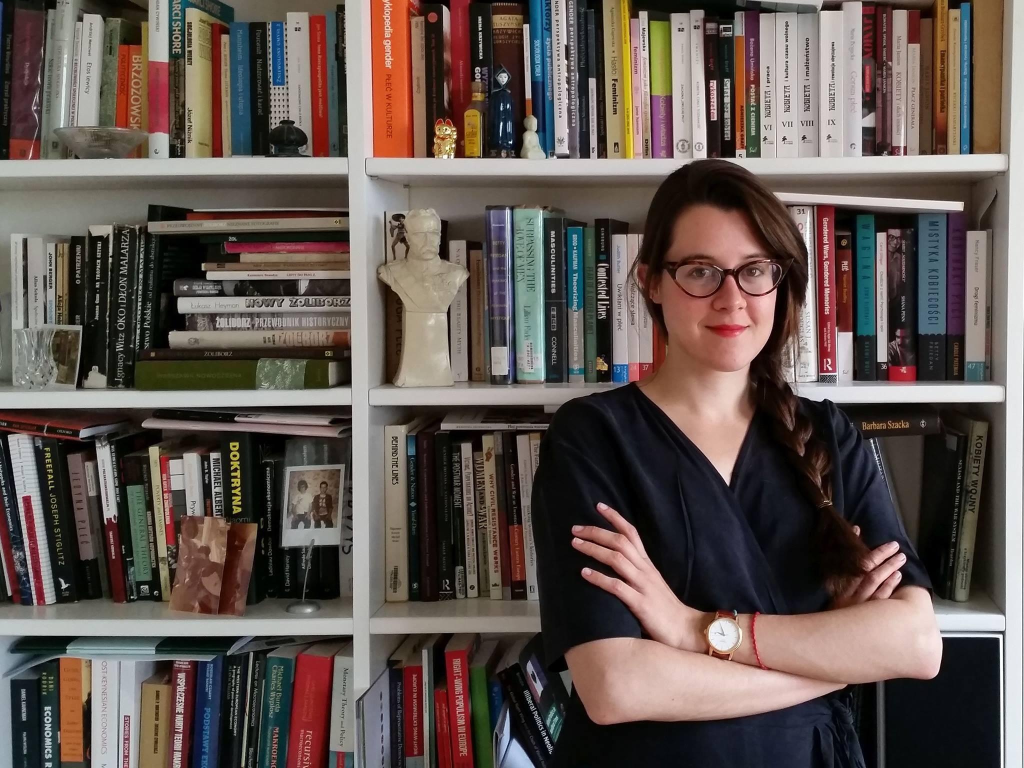 Intervjueeritav Weronika Grzebalska on sotsioloog, Poola Teaduste Akadeemia doktorant ja feminist, kes uurib militarismi, natsionalismi ja poliitilisi õigusi. Foto: erakogu
