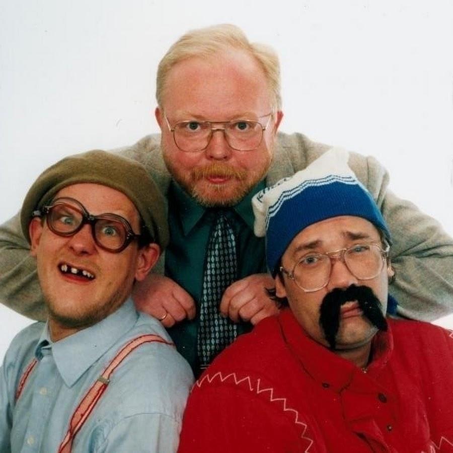 """""""Wremja"""" põhikangelased (vasakult) Jaan Zorro (Jan Uuspõld), Mart Laar (Meelis Adamson) ja Haista Gäng (Dan Põldroos)"""
