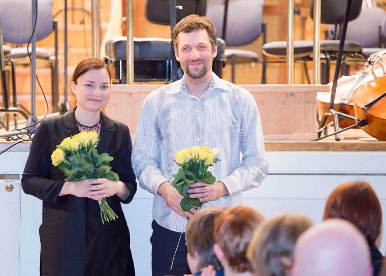 Preemia laureaadid Helena Tulve ja Märt-Matis Lill. Foto: Peeter Langovits