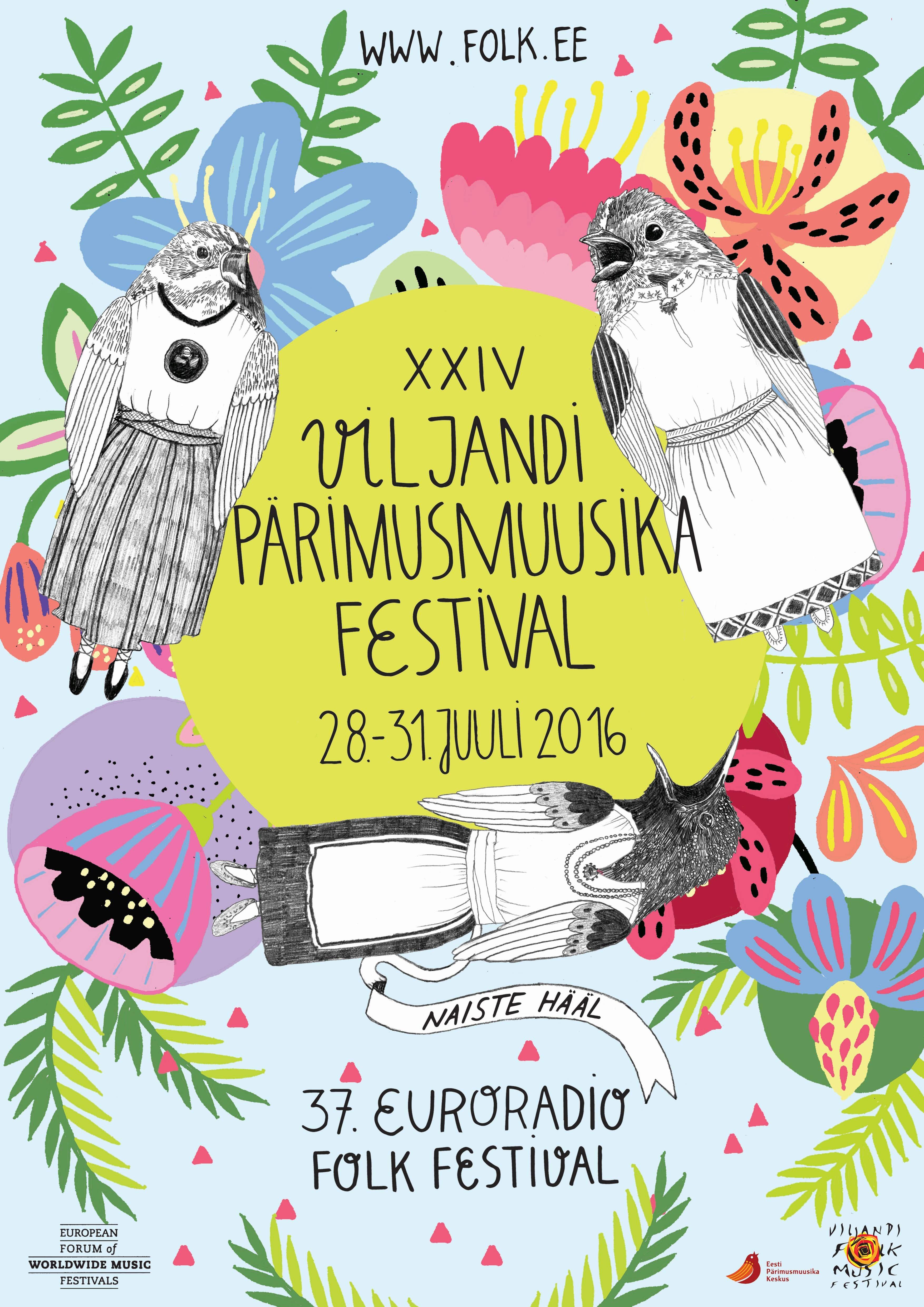 XXIV Viljandi pärimusmuusika festivali tunnuskujundus. Autor: Eili Lepik