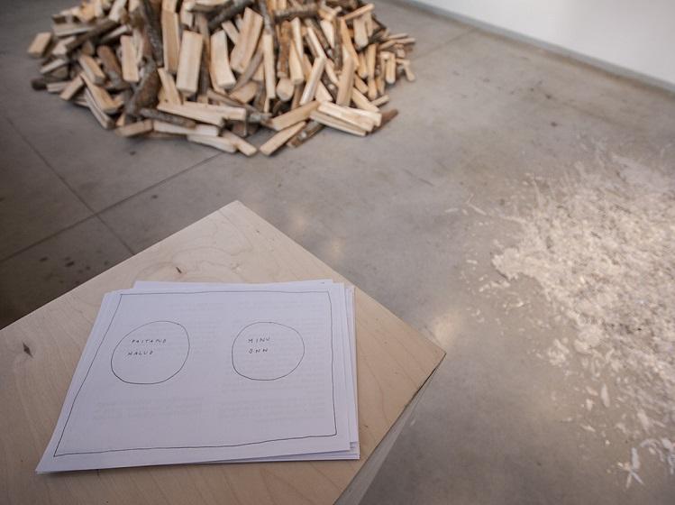 """Kaader Hanna Piksarve näituselt """"Hea ja halg/Wood and Good"""". Foto: kunstimaja.ee"""