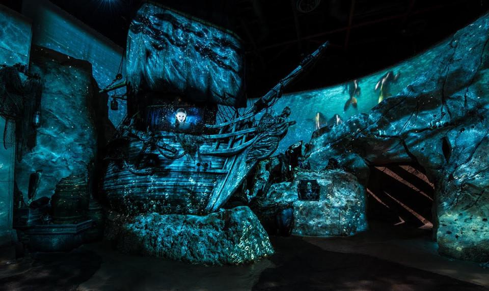 """""""Kariibi mere piraatide"""" ajutine installatsioon Walt Disney Hollywoodi stuudios. Autoriõigus: Walt Disney Imagineering"""