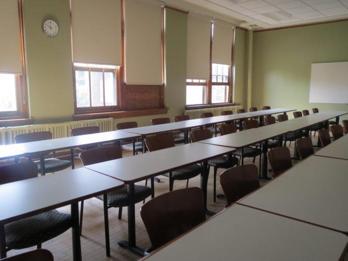 Tühi klassiruum. Foto: Flickri kasutaja WalrusWaltz