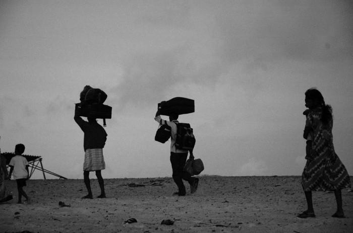 Sri Lanka Tamili pagulased põgenemas osalt tsunami tagajärjel uuesti puhkenud kodusõja eest. Foto: Climatalk (CC by 2.0)