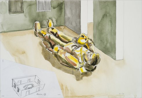 """Kavand Kristina Normani näituseks """"Järelsõda"""" (2009)"""