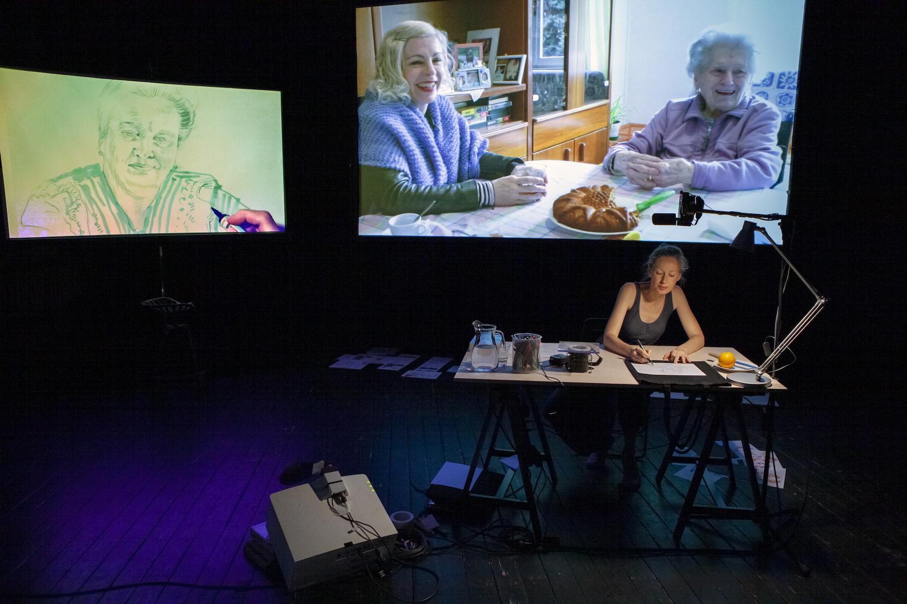 """Stseen Kristina Normani hübriidprojektist """"Kergem kui naine"""". Foto: Erik Norkroos"""