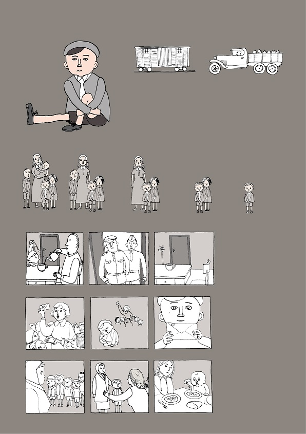 Illustraator Marja-Liisa Plats on viie lapse loole andnud pildilise kuju. Siin on lood Tiidu elust Teise maailmasõja ajal.