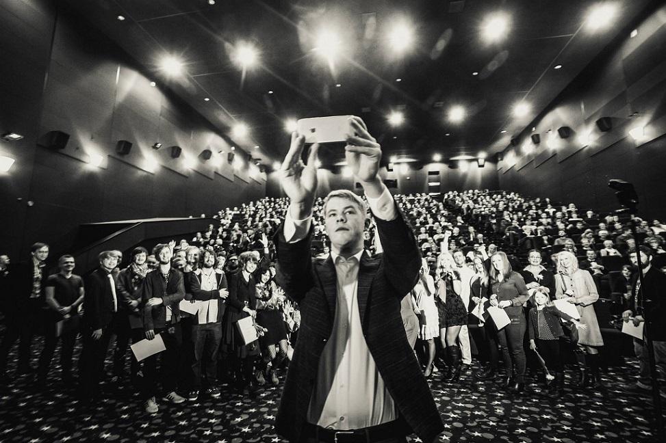 """Märt Pius """"Nullpunkti""""  esilinastusel Solaris Kinos. Foto: Jelena Rudi"""