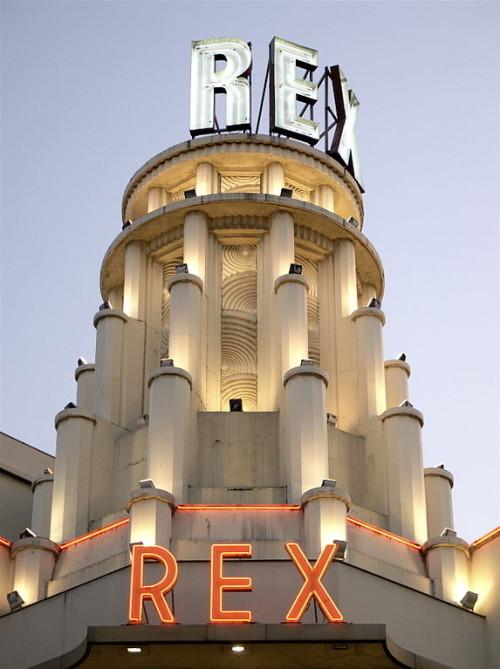Le Grand Rex in Paris – one of the biggest cinemas in Europe.