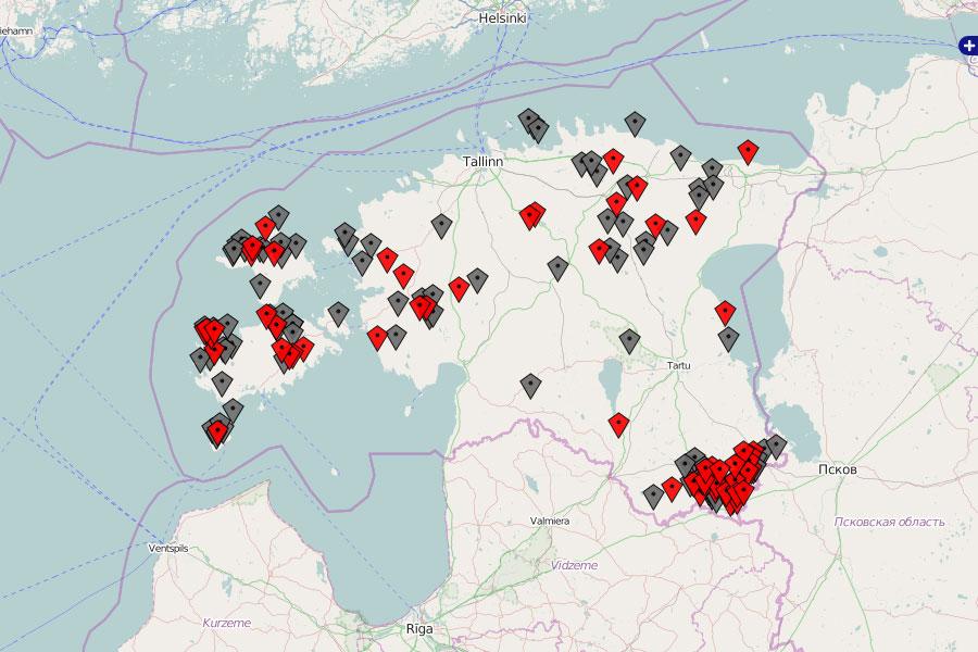 Hüljatud külad. Kaart: Taavi Suisalu