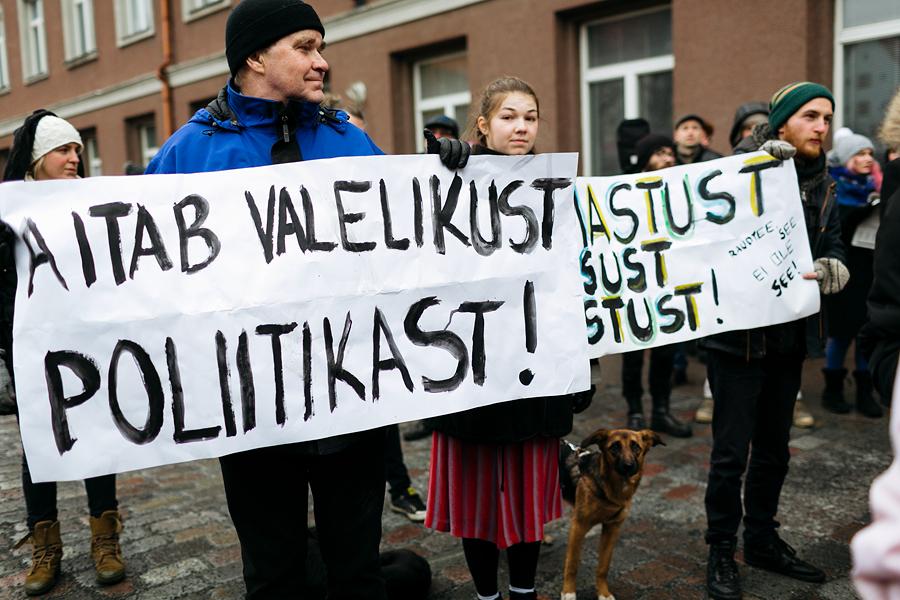 Teiste seas oli kohal ka sotsioloog Juhan Kivirähk koos tütre Kairiga.