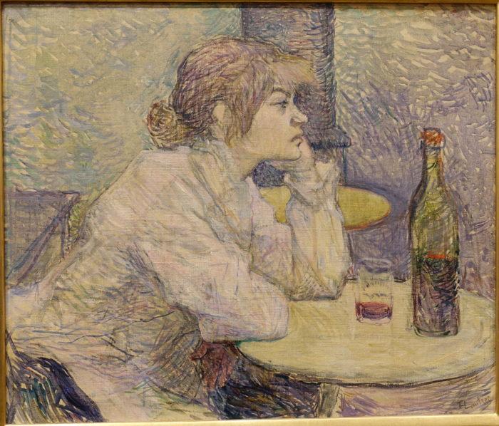 """Henri de Toulouse-Lautreci õlimaal """"Pohmell (Suzanne Valadon)"""", 1887–1889, Harvardi Ülikooli Foggi kunstimuuseum"""