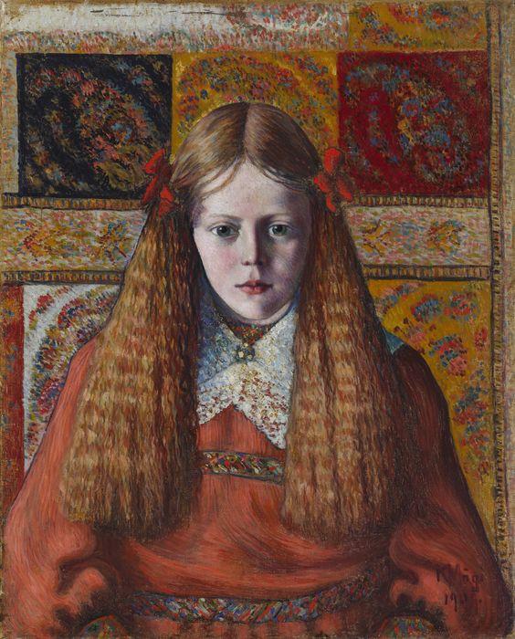 """Konrad Mägi """"Norra tütarlapse portree"""", 1909, Tartu Kunstimuuseum. FOTO: KUMU"""