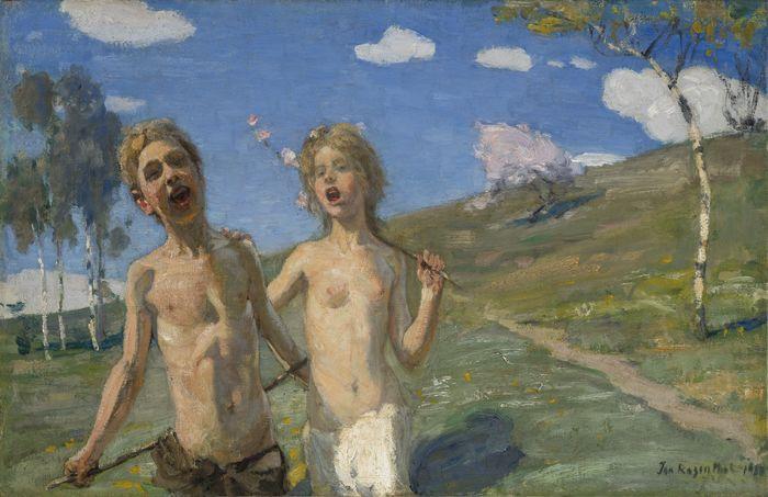 """Janis Rozentāls """"Kevadlaul"""", 1901, Läti Rahvuslik Kunstimuueum. Foto: KUMU"""